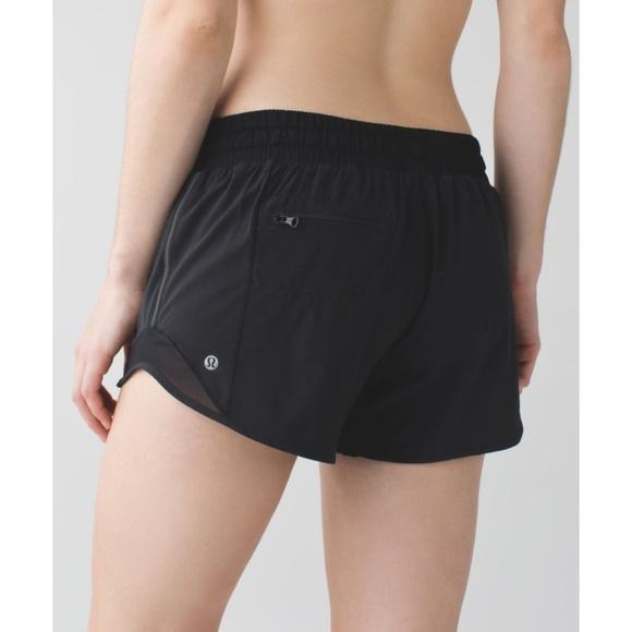 495d2aa04 lululemon athletica Pants - Lulu Hotty Hot Short Long Black Mesh Cutout 4  Tall